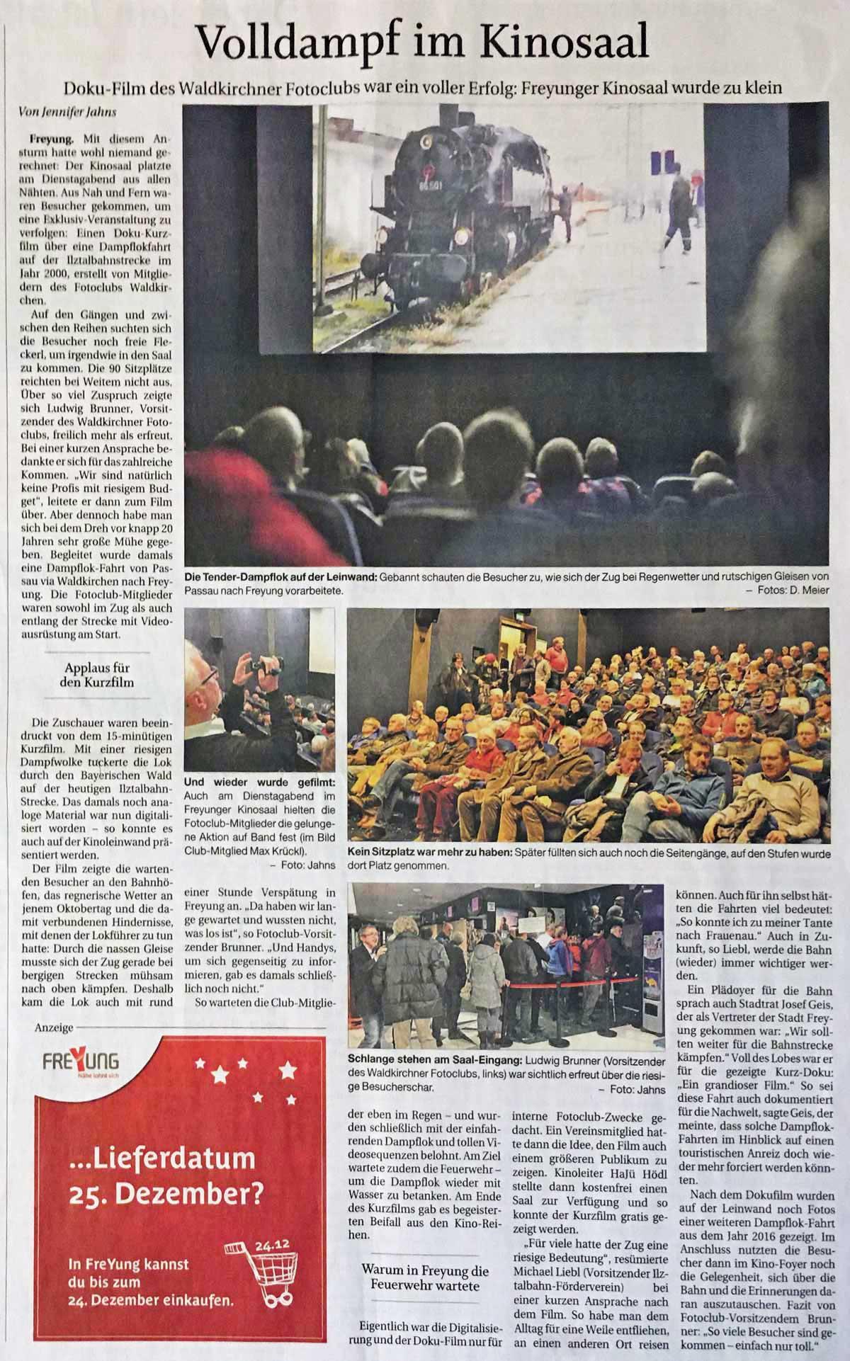 Bericht der Passauer Neue Presse_Kinoveranstaltung