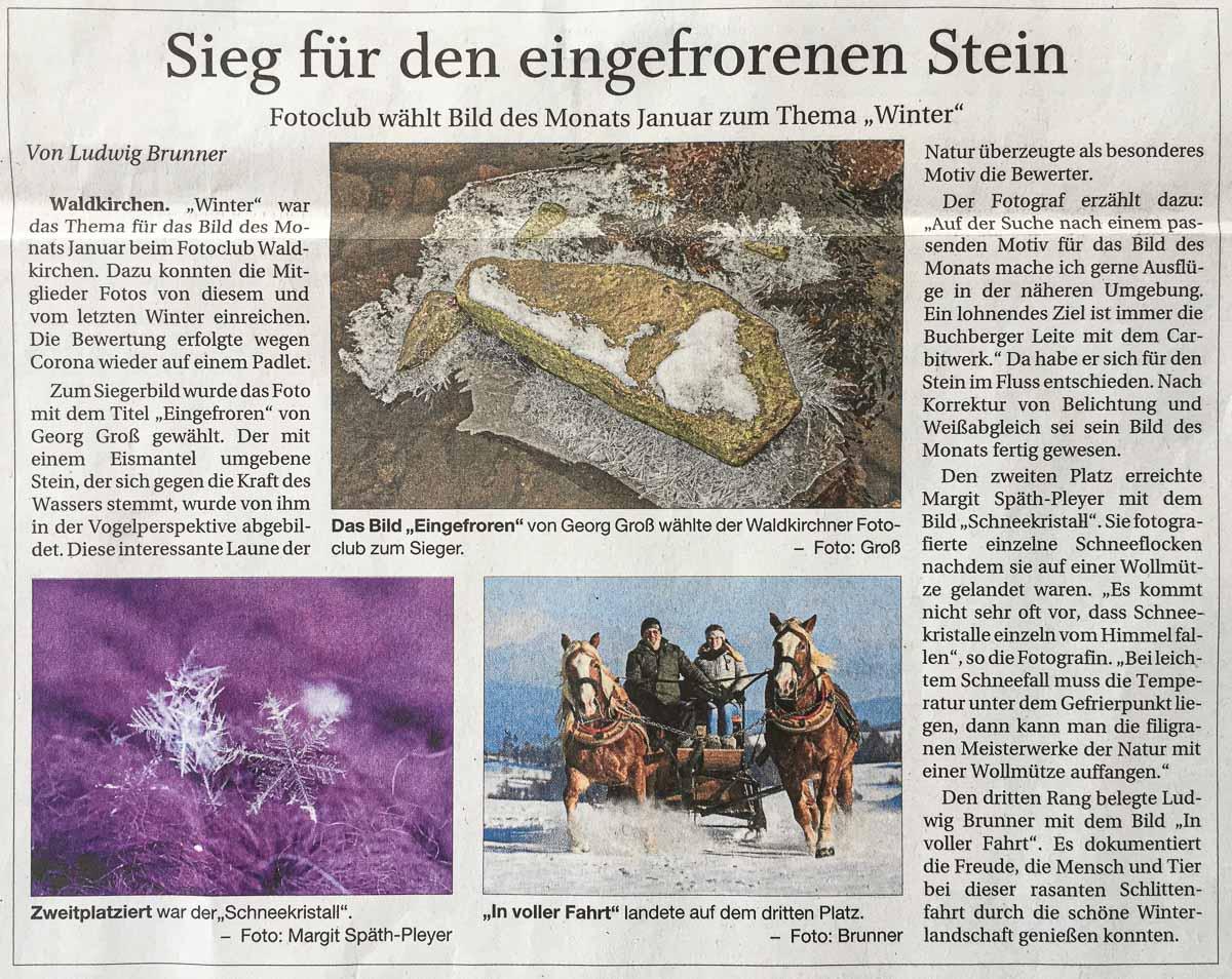 Beitragsbild für Presseseite_Sieg für den eingefrorenen Stein