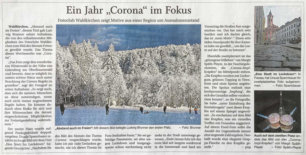 Bild zu Pressebericht_Ein Jahr Corona im Fokus
